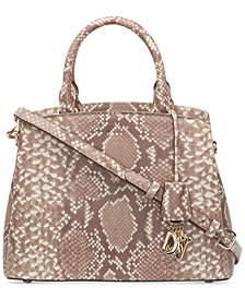 DKNY Paige Snake Satchel, Created for Macy's