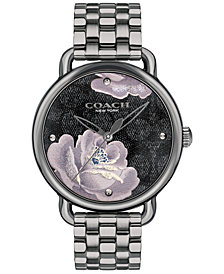 COACH Women's Delancey Gray Stainless Steel Bracelet Watch 36mm