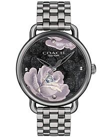 COACH Women's Delancey Gray Stainless Steel Bracelet Watch 36mm