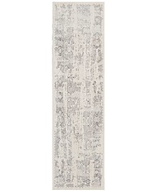 "Home KI34 Silver Screen KI344 2'2"" x 7'6"" Runner Area Rug"