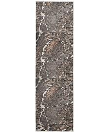 "kathy ireland Home KI35 Heritage KI351 Gray 2'2"" x 7'6"" Runner Area Rug"