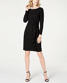 Jessica Howard Ruffled Ruched Stretch Dress