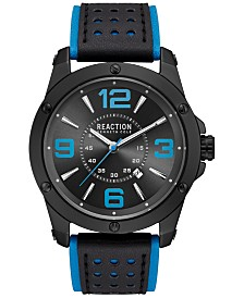 Kenneth Cole Reaction Men's Turquoise and Black Strap Watch 46mm