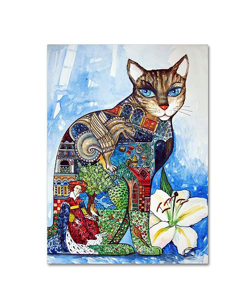 "Trademark Global Oxana Ziaka 'Cat 3' Canvas Art - 19"" x 14"" x 2"""