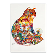 Oxana Ziaka 'Christmas Cat 2' Canvas Art Collection