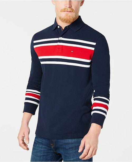 02bd30f04c3f17 Tommy Hilfiger Men s Lewiston Striped Polo