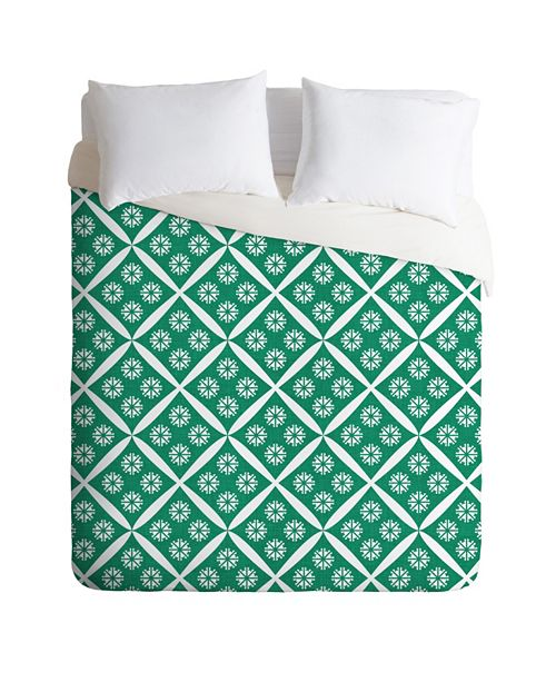 Deny Designs Holli Zollinger Crosshatch Flower Queen Duvet Set