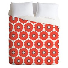 Deny Designs Holli Zollinger Coral Pop Queen Duvet Set