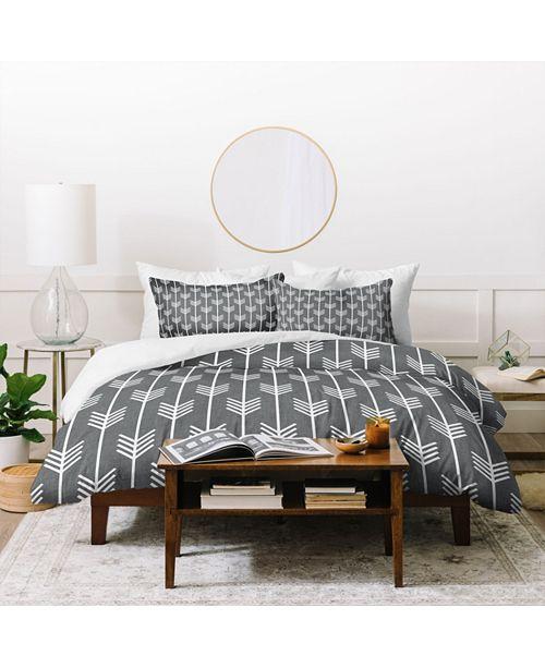 Deny Designs Holli Zollinger Arrows Grey Twin Duvet Set