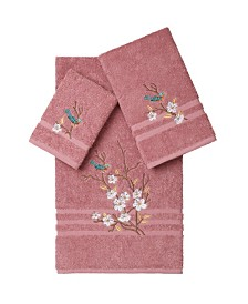 Linum Home Springtime 3-Pc. Embellished Towel Set