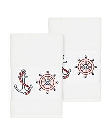Easton 2-Pc. Embellished Hand Towel Set