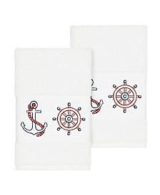 Linum Home Easton 2-Pc. Embellished Hand Towel Set