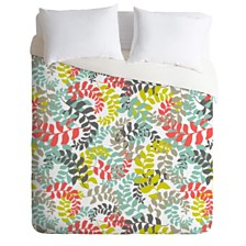 Deny Designs Heather Dutton Undertow Coral Queen Duvet Set