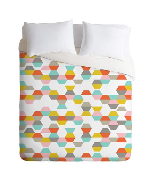 Deny Designs Heather Dutton Hex Code Queen Duvet Set