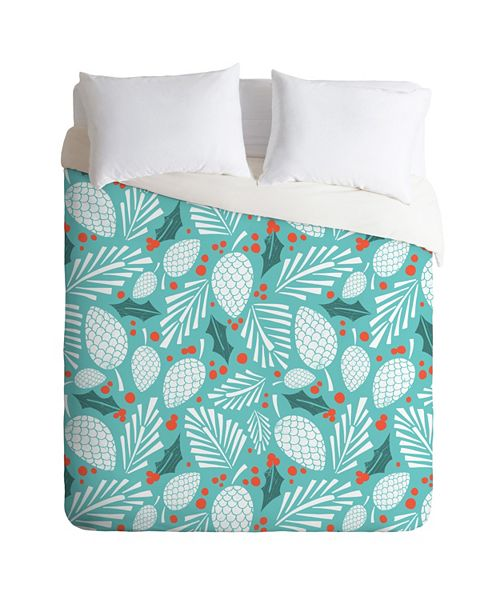 Deny Designs Heather Dutton Winter Woodlands Sky Twin Duvet Set