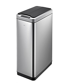 EKO Phantom 50L Motion Sensor Trash Can with Stainless Steel Finish