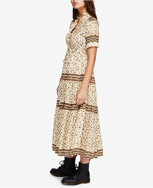 c34e2fd1b3b Free People Rare Feeling Pleated Printed Dress   Reviews - Dresses ...