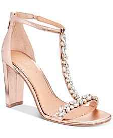 Jewel Badgley Mischka Morley Embellished Evening Sandals