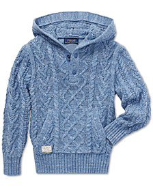 Polo Ralph Lauren Toddler Boys Aran-Knit Cotton Hoodie