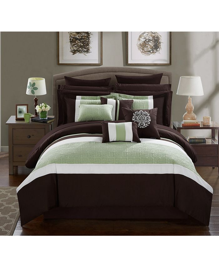 Chic Home - Pisa 16-Pc. Bed In a Bag Comforter Sets