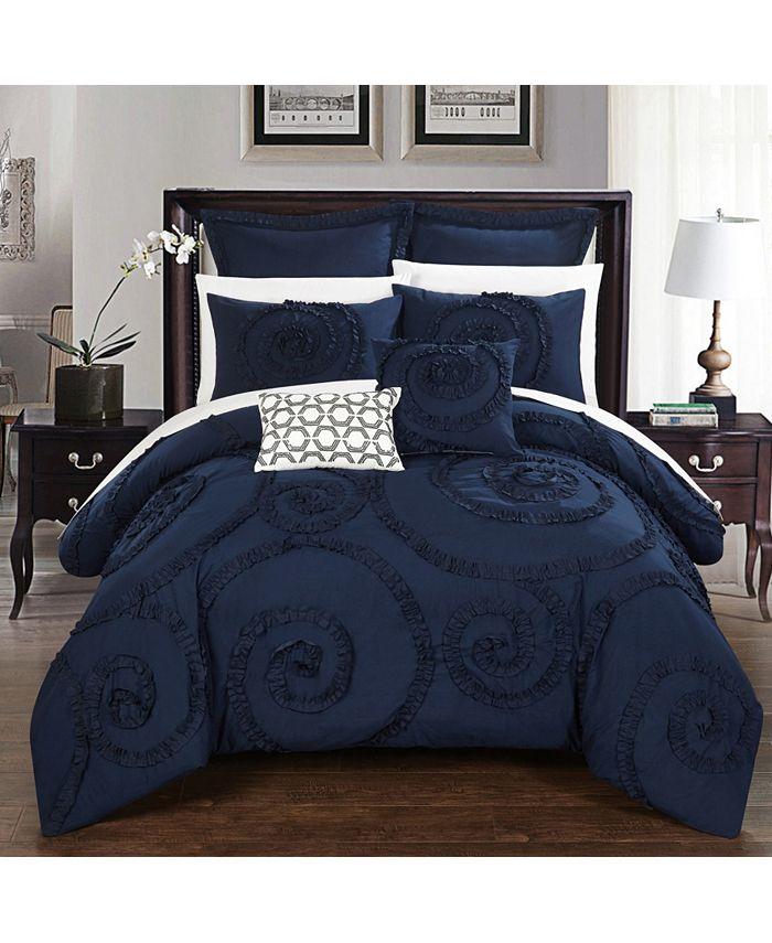 Chic Home - Rosalia 7-Pc. Queen Comforter Set
