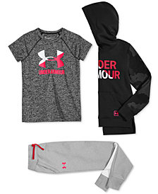 Under Armour Big Girls Hoodie, T-Shirt & Jogger Pants