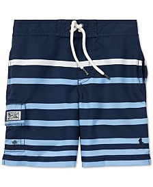 Polo Ralph Lauren Little Boys Kailua Striped Swim Trunks