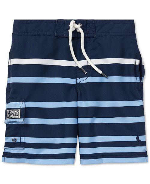 Polo Ralph Lauren Toddler Boys Kailua Striped Swim Trunks
