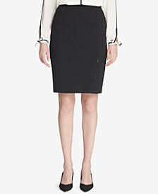 Calvin Klein Side-Slit Pencil Skirt