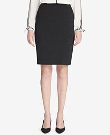 Calvin Klein Side-Slit Pencil Skirt