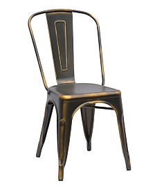 Bella Luna Vintage Galvanized Steel Side Chair (Set of 4)