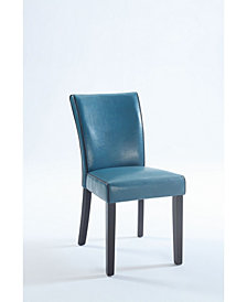 Bella Luna Bonded Leather Parsons Chair