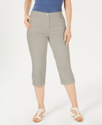 Image of Karen Scott Button-Hem Capri Pants, Created for Macy's