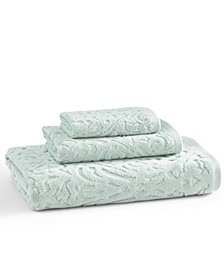 Toscana 100% Cotton Floral Jacquard Hand Towel