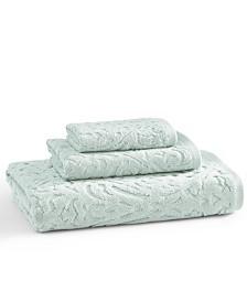 Cassadecor Toscana 100% Cotton Floral Jacquard Hand Towel