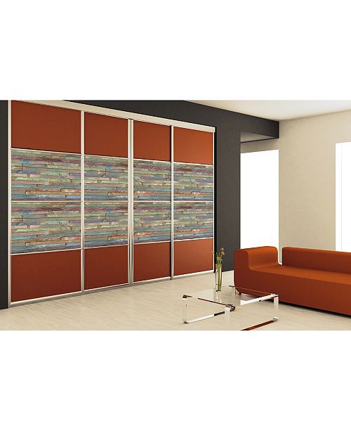 Brewster Home Fashions Rio Colored Wood Adhesive Film Set Of 2