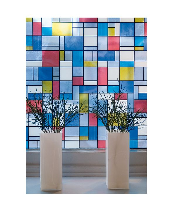 Brewster Home Fashions Mondrian Window Film Set Of 2