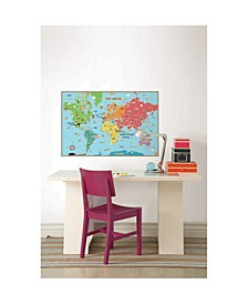 Kids World Dry Erase Map Decal