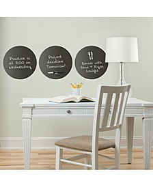 Charcoal Dry Erase Dot Decals