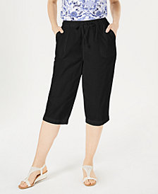 Karen Scott Cotton Cropped Pants, Created for Macy's