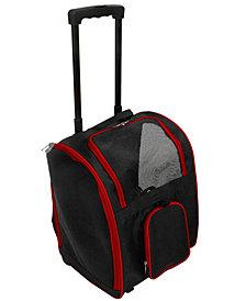 "16.5"" Premium Pet Carrier Bag With Wheels"