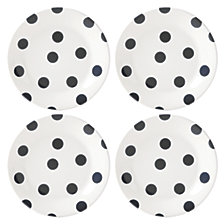 kate spade new york Deco Dot Set of 4 Salad Plates
