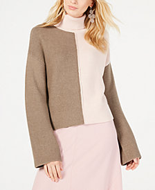 I.N.C. Colorblocked Turtleneck Sweater, Created for Macy's