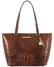 Medium Asher Melbourne Embossed Leather Tote