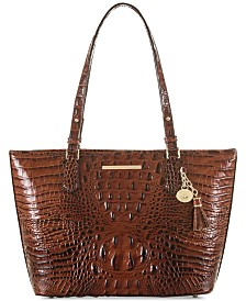Brahmin Medium Asher Melbourne Embossed Leather Tote