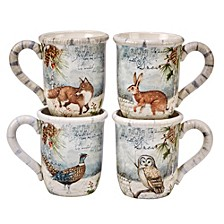 Winter Lodge 4-Pc. Mugs
