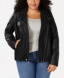 96131efaa1f Plus Size Leather Jackets  Shop Plus Size Leather Jackets - Macy s