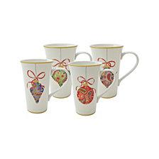 222 Fifth Paisley Ornaments Latte Mugs, Set of 4