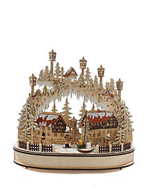Kurt Adler 16.5-inch Battery Operated Musical LED Village House Table piece