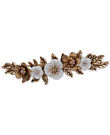 lonna & lilly Gold-Tone Crystal & Imitation Pearl Flower Hair Clip